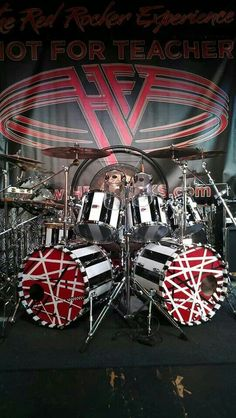 Alex Van Halen. Funny piece of VH history, Alex actually played the guitar and Eddie played the drums and they switched before starting VanHalen