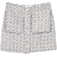 Tweed Skirt ($45) ❤ liked on Polyvore featuring skirts, white skirt, mango skirt, tweed skirt and white knee length skirt