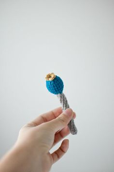 Baby Rattle Toy Flower Crochet Crinkle Baby First Grasping and Teething Toy Blue Mustard Grey Eco-Friendly - Made to Order