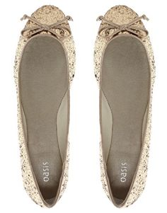 Oasis Glitter ballerinas