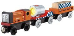 Thomas & Friends Fisher-Price Wooden Railway - Rusty to the Rescue Thomas And Friends Engines, Thomas And Friends Trains, Thing 1, Wooden Train, Thomas The Tank, Train Car, Toys R Us, Toy Store, Fisher Price