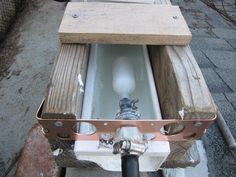 float valve in self irrigating gutter system