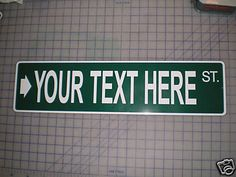 2 Custom Your Text Here Personalized Street Signs Road Name Address RD Number   eBay