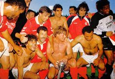 Taça de Portugal 1992/93. Futre Neno, Rui Águas, JVP, Veloso, Rui Costa......