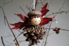 Turn Pine Cones Into Amazing Stuff With These Projects – Worth Trying DIY Projects - Weihnachten Woodland Christmas, Christmas Fairy, Rustic Christmas, Handmade Christmas, Woodland Fairy, Christmas Angels, Pine Cone Art, Pine Cone Crafts, Pine Cones