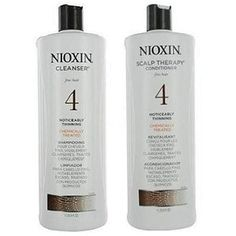 Nioxin System 4 Cleanser & Scalp Therapy for Fine Treated Hair Duo Set oz For fine, chemically enhanced, noticeably thinning hair Scalp protection A. Hair Scalp, Hair Regrowth, Hair Shampoo, Nioxin System 4, Hair Fall Solution, Hair System, Thing 1