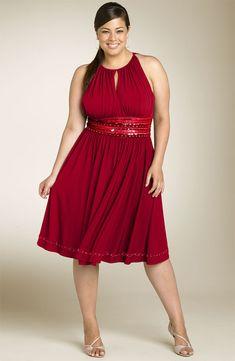 vestido rojo granate (talla grande)
