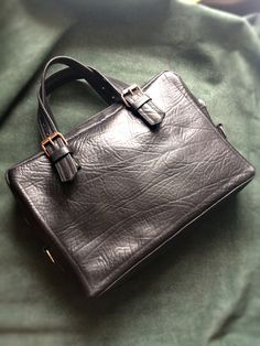 Leather briefcase  Black style