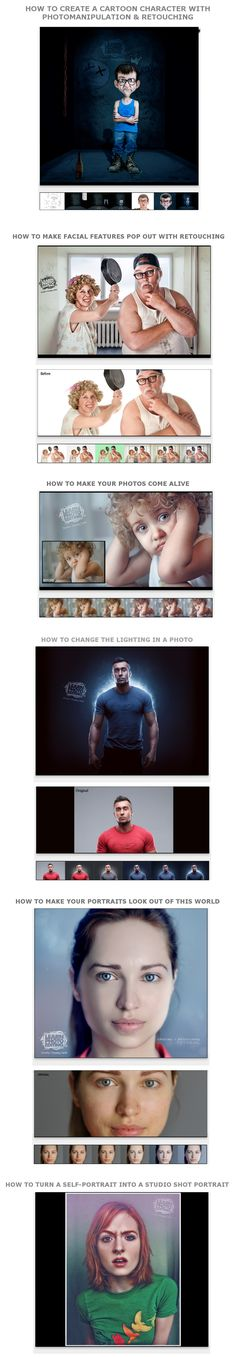 36 Professional Photoshop Tutorials! Learn photo editing with easy. Any photo manipulation will be possible for you.