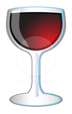 Red wine glass icon vector illustration.