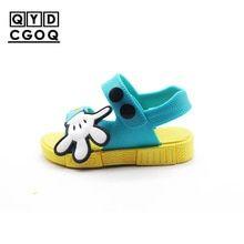43dbda633 Mini Melissa Style Mickey s Palm Boy Girl Sandals 2019 New Children Sandals  Kids Shoes Toddler Sandals Kids Sandals Non-slip