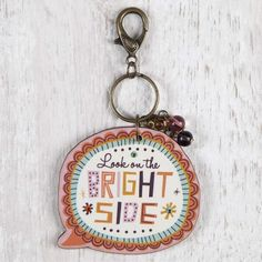 Bright Side Thought Bubble Key Chain