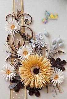 Neli Quilling Art: Golden Gerbera