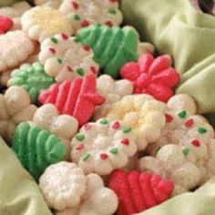 Best Ever Spritz Cookies. I made these every year with my mom growing up. Started the tradition with my kids. They love it!!