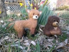 needle felted these animals for a friend.3/16/14 made by Jamie Malley