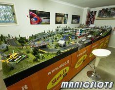 Slot Cars, Scenery, How-to, Scalextric, home track layout
