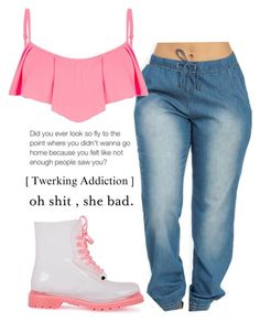 """""""pink thang"""" by daijahhill25 ❤ liked on Polyvore"""