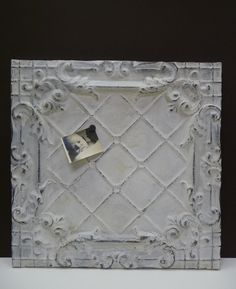 Repurpose An Antique Tin Ceiling Tile As The Backer For A