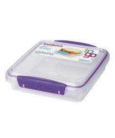 Purple Sandwich To-Go Container
