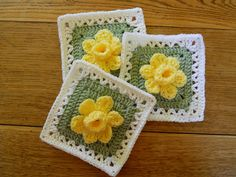 Ravelry: Daffodowndillies Square pattern by Linda N