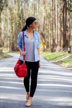 Com zoo outfit, road trip outfit, cute travel outfits, new Cute Outfits With Leggings, Legging Outfits, Cute Leggings, Denim Outfit, Black Leggings, Zoo Outfit, Road Trip Outfit, Comfy Travel Outfit, Travel Outfit Summer