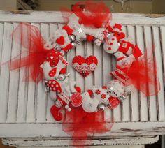 Christmas Felt Wreath by decocarin, $326.00
