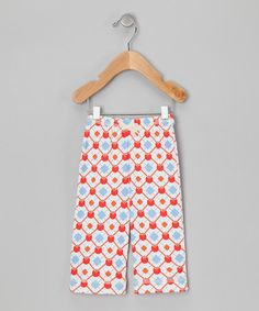 Take a look at this Red & Blue Elmo Organic Pants - Infant, Toddler & Girls by Kiwi Industries on #zulily today!