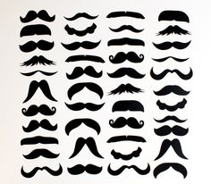 50 DIY Photo Booth Props. Set of 50. Mustache Die Cuts. Weddings. Events. Birthdays