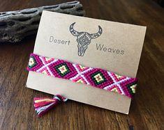 Friendship Bracelet, woven tribal bracelet, braided cotton bracelet, boho macrame bracelet, festival wristband, southwestern desert bracelet