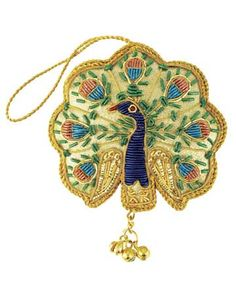 """INDIAN PEACOCK, 4.5""""H, $9; TARA PROJECTS FAIR TRADE GROUP IN INDIA: THROUGH A GREATER GIFT800-423-0071; AGREATERGIFT.ORG."""