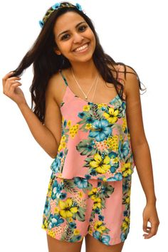 Somewhere Exotic Floral Romper for $32.98! Only at www.522envy.com!