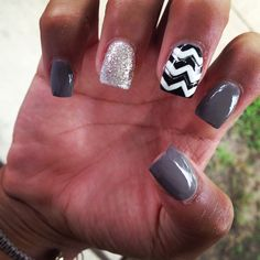 Chevron | See more nail designs at http://www.nailsss.com/french-nails/2/