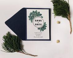 Botanic succulent Save the date, Watercolor Succulent Wedding Invitation Printable, DIY Succulent Invitation, Succulent save the date