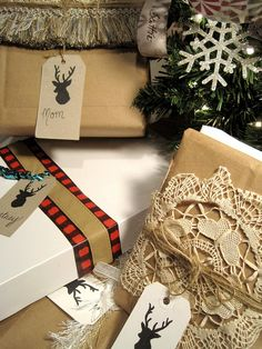 Easy gift wrap using what you already have! #easyholidayideas