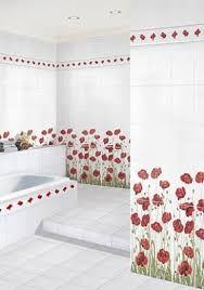 Картинки по запросу ванная комната в красно -белых цветах