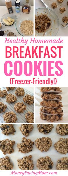 These Healthy Homemade Breakfast Cookies are SO delicious, filling, and easy to make! Plus, they freeze beautifully!