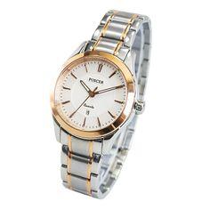 Water Resistant Rose-Tone Strap Women Quartz Watch