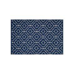 Safavieh Dhurries Quatrefoil Handwoven Flatweave Wool Rug, Blue (Navy)