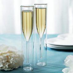 2-Pc. Modern Art Champagne Glass /