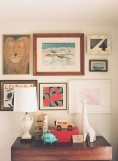 Create a wall gallery to display your child's #art! #customframing | Gen's Favorite Blog