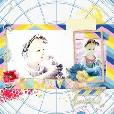 Blue Skies and Lemonade Bundle and Layout Template 685