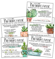5 Posters – Past participle (Part - Back To School Back To School Highschool, Diy Back To School, Back To School Supplies, French Teacher, Teaching French, French Class, Futur Simple, Back To School Bulletin Boards, French Education