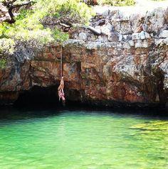 Lokrum Island, Croatia at a swimming hole called the Dead Sea.  Fantastic little place.