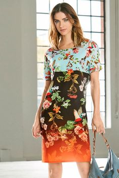 Heine Printed Shift Dress at EziBuy Australia. Buy women's, men's and kids fashion online. Fashion Competition, European Fashion, Floral Tops, Women Wear, Prints, Summer, Clothes, Shopping, Beauty