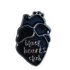 Black Hearts Club Pin (1.050 RUB) ❤ liked on Polyvore featuring jewelry, brooches, accessories, fillers, pins, items, enamel jewelry, pin jewelry, heart jewelry and enamel brooch