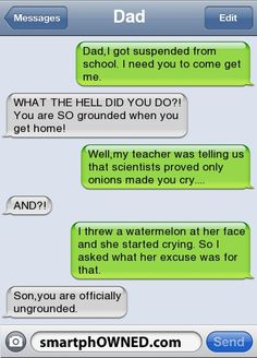 Ungrounded Dad Texts, Stupid Texts, Funny Texts To Parents, Funny Text Fails, Text Jokes, Funny Jokes, Funny Drunk Texts, Scary Text Messages, Funny Text Conversations