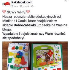 Znacie te tablice od #goula #cliceduc i #miniland #superpegs ? Ja jestem pod wrażeniem ich jakości i dopasowania do małych rączek Kakaludka  Znajdziecie je w sklepie #dobrezabawki na www.dobrezabawki.com  #zabawki #toys #boys #girls #kakaludek #blog #polska #poland #poznan #poznań #dobrezabawkicom #school #play #learn #playandlearn