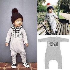 Cheap overall romper, Buy Quality rompers rompers directly from China romper clothing Suppliers: USA STOCK Fresh Kids Baby Boys Long Sleeve Romper Overall Cotton Gray Casual Jumpsuit Clothing Support Drop Shipping Newborn Outfits, Mom Outfits, Baby Boy Outfits, Baby Girl Romper, Baby Girl Newborn, Baby Boys, Infant Boys, Baby Jumpsuit, Casual Jumpsuit