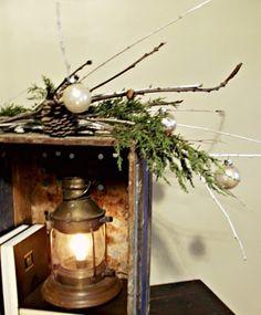 rustic Christmas decor