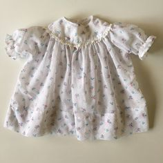 SOLD Vintage White with Floral Baby Dress for sale here https://www.etsy.com/listing/270714485/vintage-white-baby-dress-with-tiny?ref=shop_home_active_3